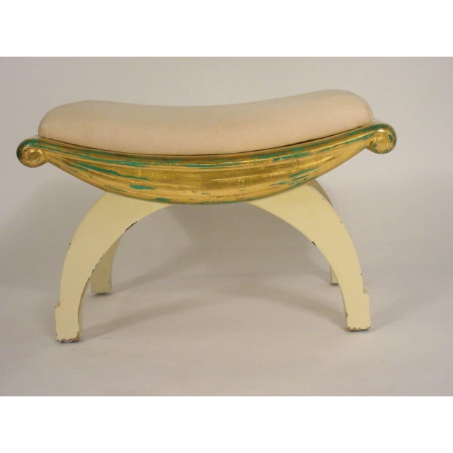 1970s 1970s Gilt Swag Wood Bench For Sale - Image 5 of 7