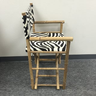 Schumacher Zebra Fabric Folding Safari Chair Preview