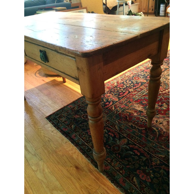 Antique Rustic Pine Console Table - Image 5 of 9