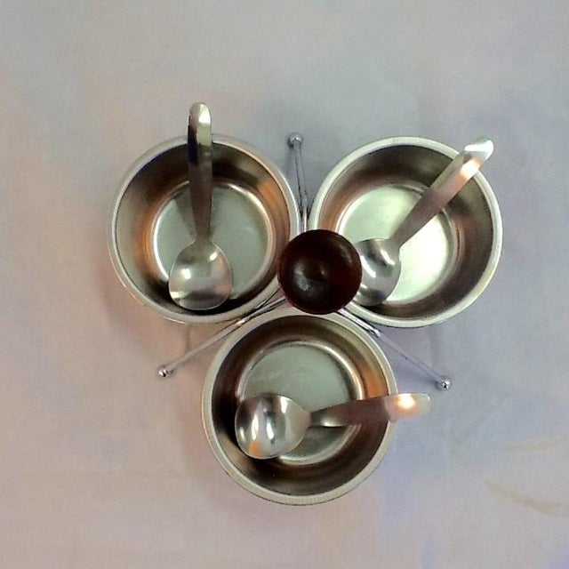 Atomic Style Mid-Century Condiment Set - Image 3 of 4