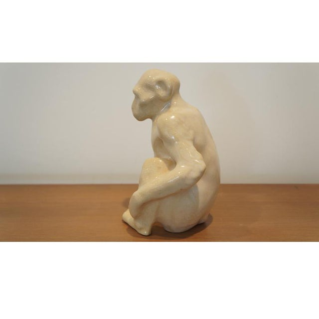 Atelier Primavera au Printemps Claude Levy for Primavera Ceramic Monkey Figurine For Sale - Image 4 of 8