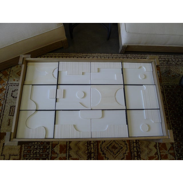Modernist Frieze Cocktail Table by Paul Marra - a Pair For Sale - Image 10 of 10