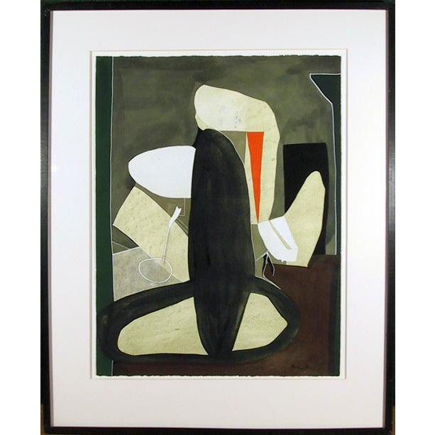 Abstract Eduardo Arranz-Bravo, Green (From the Sweerts Suite) Painting, C. 1990 For Sale - Image 3 of 3