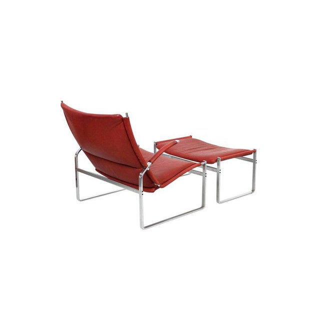 1960s Preben Fabricius and Jorgen Kastholm Lounge Chair and Ottoman For Sale - Image 5 of 11
