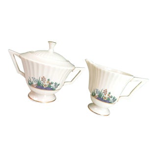 Vintage Lenox Rutledge Sugar & Creamer Set For Sale