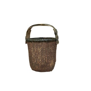 Black Chinese Willow Basket For Sale