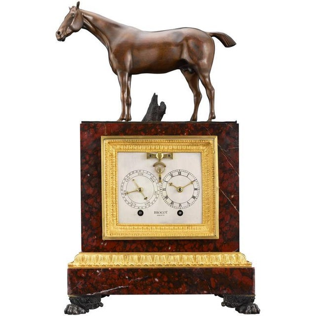Napoleon III Sculptural Mantel Clock For Sale In New Orleans - Image 6 of 6