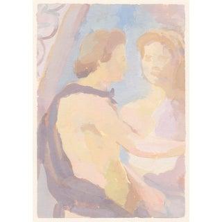 Lovers Fresco / Giclee Art Print For Sale
