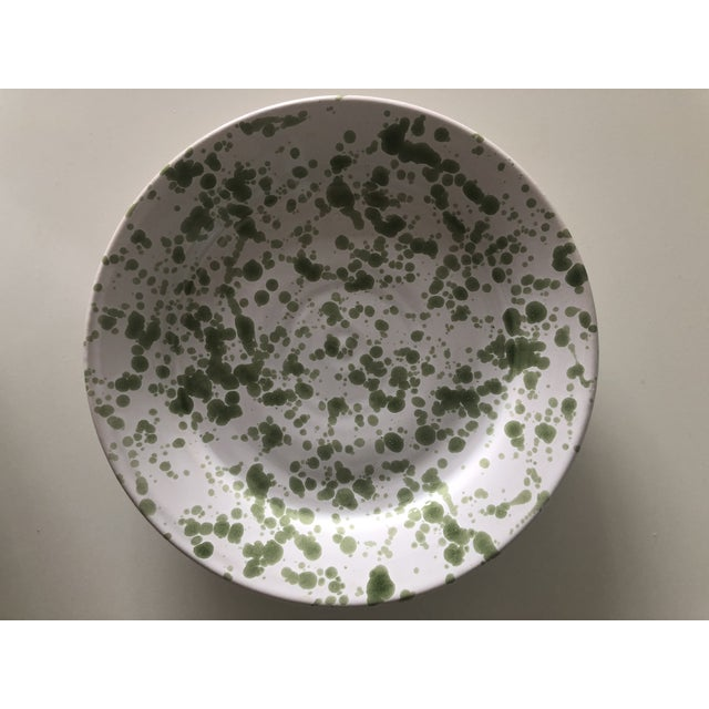 Penny Morrison Green Speckled Ceramic Plates - Set of 4 For Sale In New York - Image 6 of 9