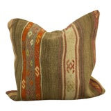 Image of Vintage Turkish Tribal Decor Hand Woven Kilim Throw Pillow Cover For Sale