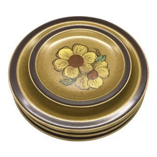International Stoneware Bahai Dinner Plates - Set of 4