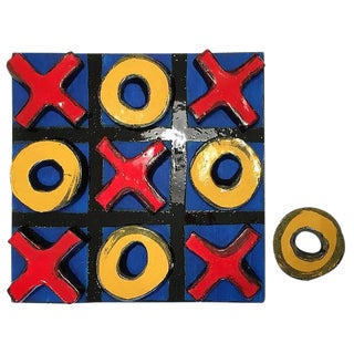 Glazed Ceramic Sculpture, Tic Tac Toe