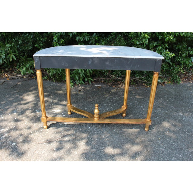 Late 20th Century Vintage French Demi-Lune Table For Sale - Image 9 of 10