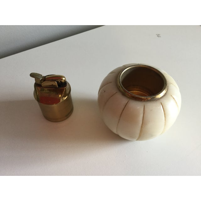 Mid-Century Modern 1970s Mid-Century Marble Cigarette Lighter For Sale - Image 3 of 5