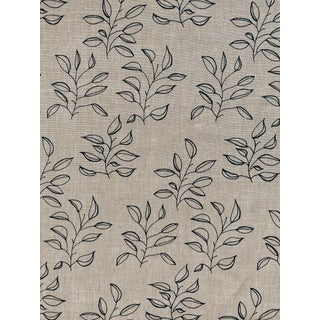 Greige Mya Fabric, Sample, Dublin on Oatmeal in Linen For Sale