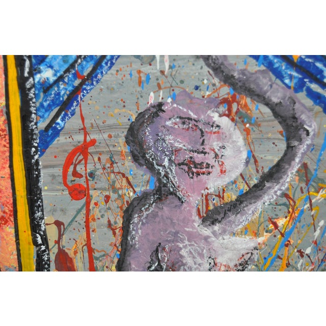 Contemporary C. Cole Expressionist Abstract Urban Painting For Sale - Image 3 of 5