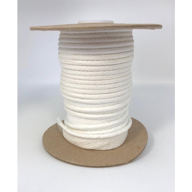 """White Braided 1/4"""" Indoor/Outdoor Cord in Bright White For Sale - Image 8 of 8"""