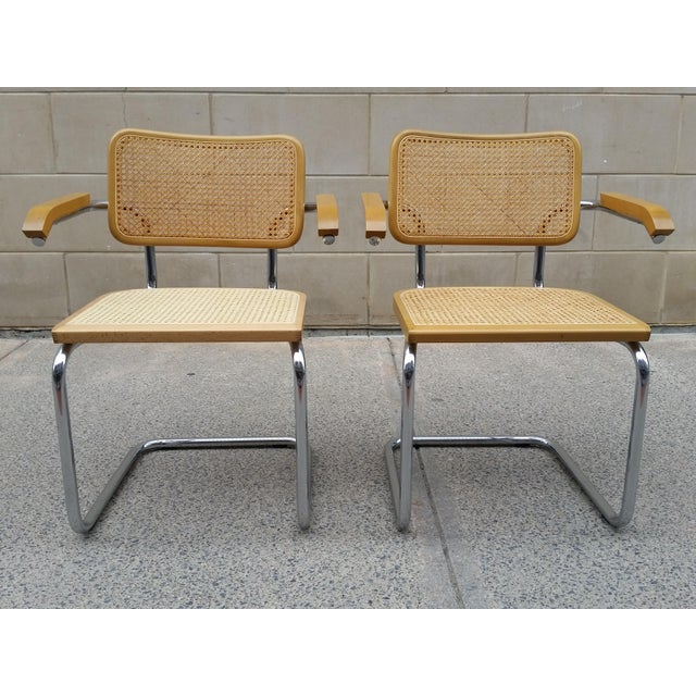 Marcel Breuer Italian Chairs - A Pair - Image 2 of 9