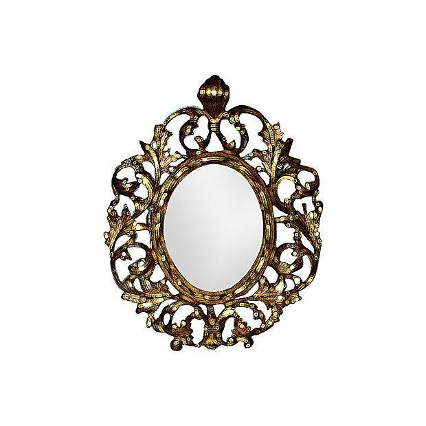 Victorian-Style Brass Mirror - Image 4 of 5