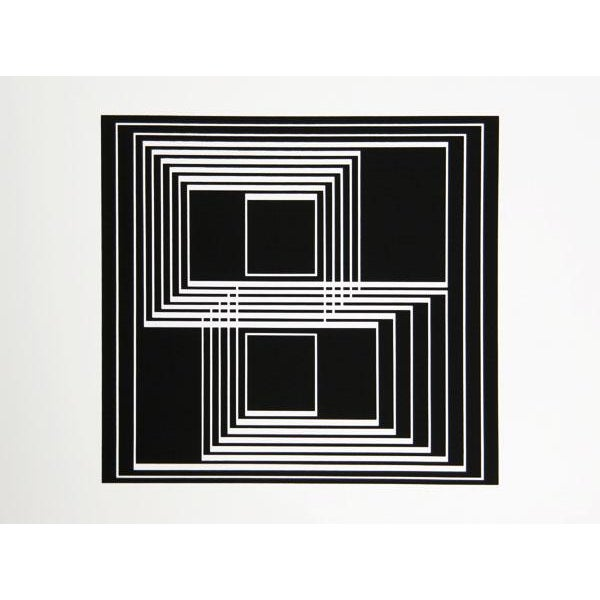 Modern Josef Albers - Portfolio 1, Folder 33, Image 1 Framed Silkscreen For Sale - Image 3 of 4