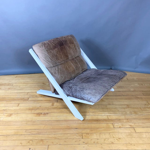 "Pair Swiss Leather ""X-Chair"" by Ueli Berger for De Sede, 1970s For Sale - Image 9 of 12"