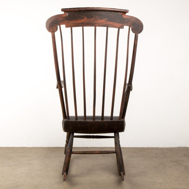 Early 19th Century Early 19th Century Windsor Rocking Chair For Sale - Image 5 of 13