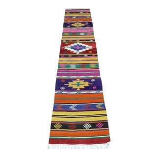 Early 20th Century Vintage Turkish Kilim Runner-1′11″ × 8′11″ For Sale