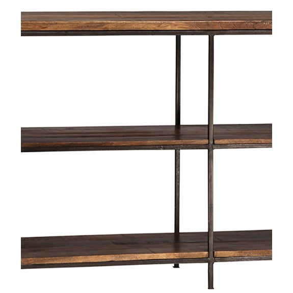 Reclaimed Wood & Iron Console Table - Image 2 of 2