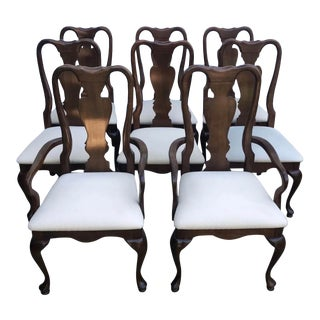 Cherry Grove by American Drew Cherry Queen Anne Dining Chairs - Set of 8 For Sale