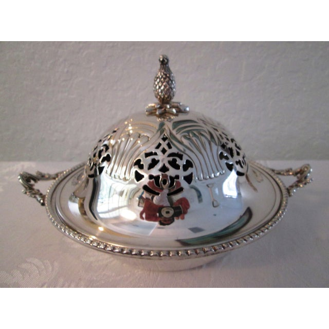 English Silver Lidded Bowl With Glass Insert - Image 2 of 11