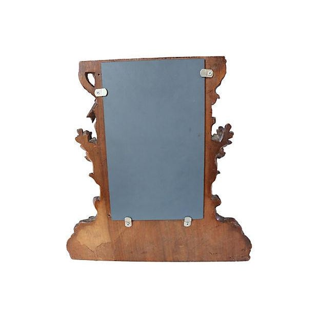 Antique Hand-Carved Black Forest Bureau Mirror - Image 6 of 7