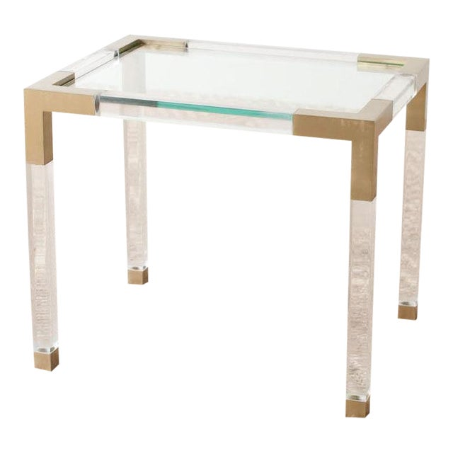 Vintage 1970as French Lucite Table For Sale