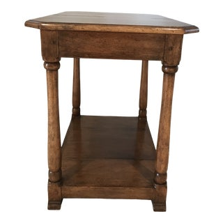 1990s British Colonial Gregorius Pineo Walnut Side Table/Nightstand For Sale