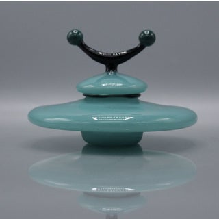 Mid-Century Art Glass Flying Saucer Covered Jar Preview