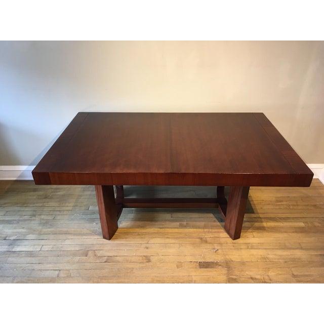 T.H. Robsjohn-Gibbings Mid-Century Restored Robjohn Gibbings Dining Table For Sale - Image 4 of 8