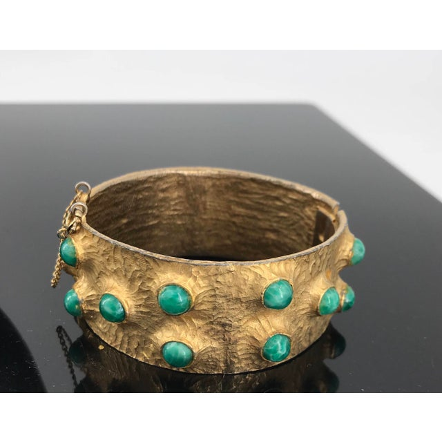 Mid-Century Modern 1960s Massive Volcano Bellini Bracelet Designer Costume High-End Couture For Sale - Image 3 of 7