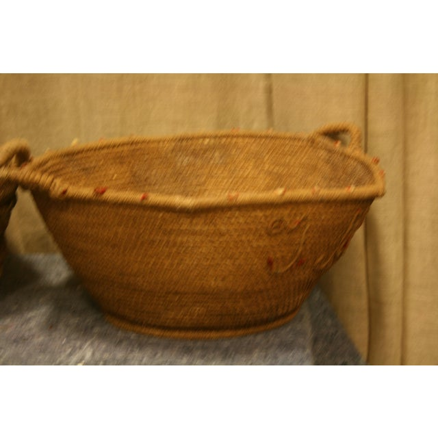 Early 20th Century Antique Spanish Handwoven Basket For Sale - Image 4 of 5
