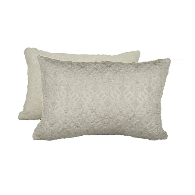 Highland Court by Duralee Silk Pillow - Pair - Image 2 of 2