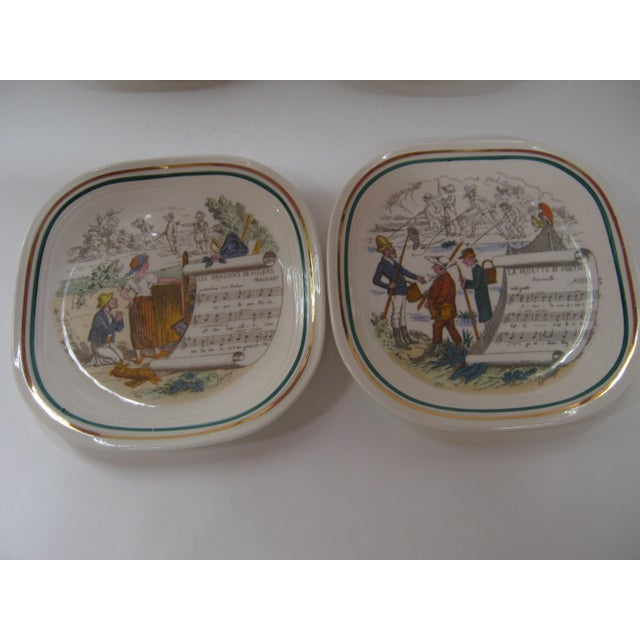 Illustration Vintage French Opera Plates With Different Scores & Scenes - Set of 6 For Sale - Image 3 of 6