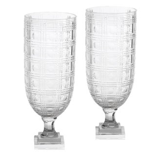"""Etched """"Circle in the Square"""" Hurricanes - A Pair For Sale"""