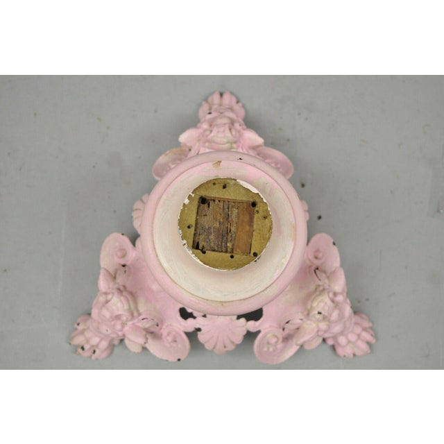 Antique French Empire Style Cast Iron Pedestal Side Table Base With Lions For Sale In Philadelphia - Image 6 of 13