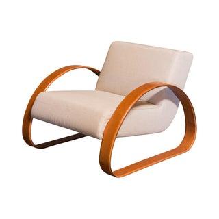 Armani/Casa Leather Arm Club Chair