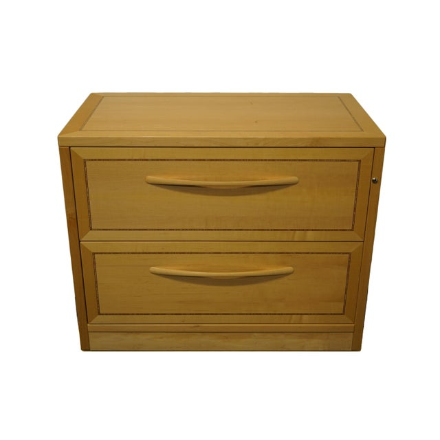 "Jesper 4000 Office Line blonde contemporary modern 35"" file cabinet. Comes with key. 28"" High 35.5"" Wide 20"" Deep We..."