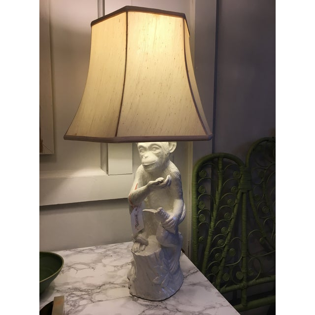 Vintage Ceramic Monkey Lamp - Image 10 of 10