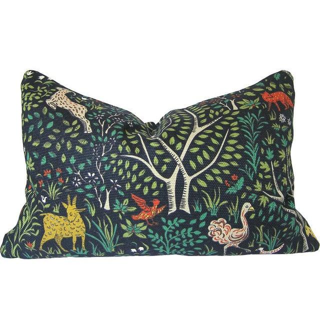 Robert Allan folkland fabric custom pillow cover. Handmade item: Primary color: Blue Materials: designer fabric, invisible...