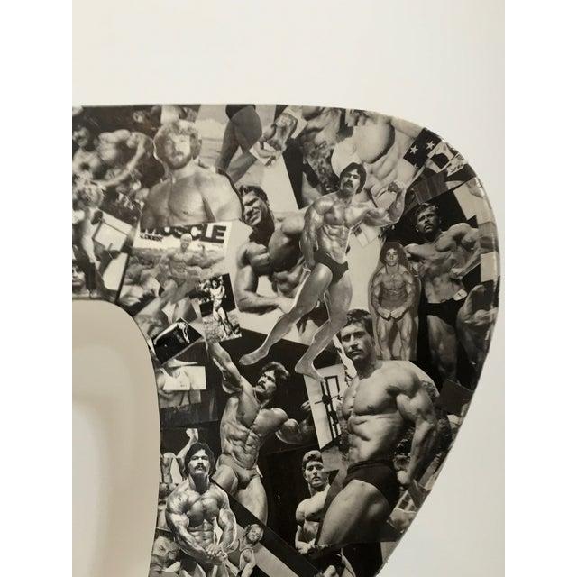 Bodybuilder Decoupage Modernist Chair - Image 7 of 11