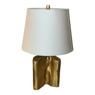 Contemporary Gold Leaf Organic Form Table Lamp For Sale