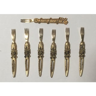 Vintage Cocktail Forks and Cheese Knives - Set of 12 Preview