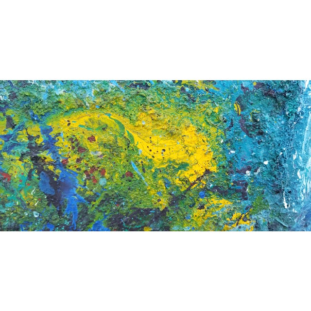 Large Art Impasto Texture by Listed Artist Koheem For Sale - Image 9 of 13