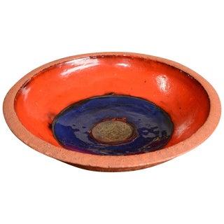 Midcentury Alvino Bagni for Raymor Italian Ceramic Centrepiece Bowl For Sale